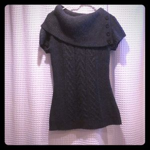 Gray short sleeve bcbg sweater